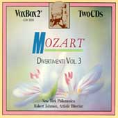Mozart: Divertimenti Vol III / Johnson, NY Philomusica
