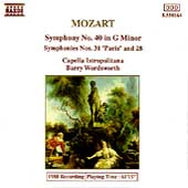 Mozart: Symphonies nos 28, 31, 40 / Barry Wordsworth