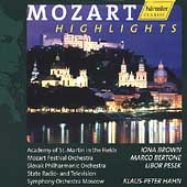 Mozart - Highlights / Iona Brown, L. Pesek, Bertone, et al