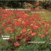 Maurice Emmanuel: Les 6 Sonatines / Laurent Wagschal [CD & DVD]