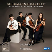 Beethoven: Quartet Op. 18/2; Bartok: Quartet SZ 85; Brahms: Quartet Op. 51/1 / Schumann Quartet