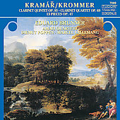 Krommer: Clarinet Quintet, etc / Brunner, Amati Quartett