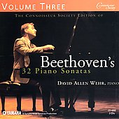Beethoven's 32 Piano Sonatas Vol 3 / David Allen Wehr