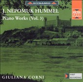 J. Nepomuk Hummel: Piano Works, Vol. 3