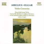 Sibelius, Elgar: Violin Concertos / Kang, Leaper
