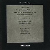 Holliger, Bach: Cello and Oboe Works / Holliger, Demenga