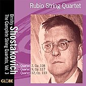 Shostakovich: String Quartets - Vol 3 / Rubio Quartet