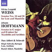 Weiss, Hoffman: Sonatas / Schwab, Ahlert