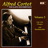 Alfred Cortot - The Late Recordings Vol 3