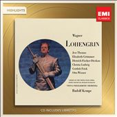 Wagner: Lohengrin [Highlights] / Thomas, Grummer, Fischer-Dieskau, Ludwig, Frick