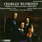 Wuorinen: Works for Violin and Piano / Hudson, Ohlsson