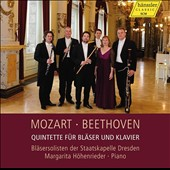 Mozart: Quintet for piano & winds, K.452; Piano Concerto, k.467, Andante (arr. For piano & winds); Beethoven: Quintet for piano & winds, Op. 16 / Margarita Hohenrieder, piano