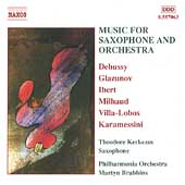 Music for Saxophone and Orchestra /Kerkezos, Brabbins, et al