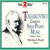 Tchaikovsky: Complete Piano Music Vol 1 / Michael Ponti