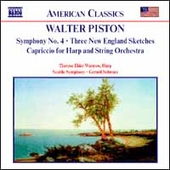 American Classics - Piston: Symphony no 4, etc / Schwarz