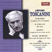Schubert: Symphony no 8;  Strauss, et al / Toscanini, et al