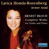 Bloch: Works for Violin and Piano / Honda-Rosenberg, Arad