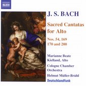 Bach: Sacred Cantatas for Alto  / M&uuml;ller-Br&uuml;hl, Kielland