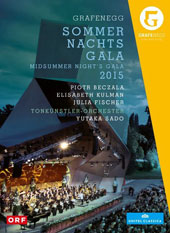 Midsummer Night's Gala 2015 - Highlights from Carmen, Werther, Il trovatore, Grafin Mariza, The Land of Smiles, Kiss me Kate / Elisabeth Kulman, Piotr Beczala, Julia Fischer [DVD]
