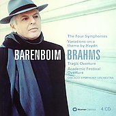 Brahms: Symphonies 1-4 / Barenboim, Chicago SO