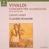 Vivaldi: Concerti per Mandolini / Scimone, I Solisti Veneti