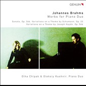 Brahms: Works for Piano Duo / Chipak, Kushni Duo