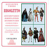 Verdi: Rigoletto / Cleva, Warren, Peters, Tucker, Tozzi