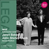 Hugo Wolf: Italienisches Lieder / Janet Baker, mezzo-soprano; John Shirley-Quirk, baritone; Stuart Bedford, piano