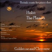 British Music for Piano Duo - Holst: The Planets; Elgar: Serenade in e; Baiton: Miniature Suite / Goldstone and Clemmow piano duo