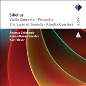 Sibelius: Violin Concerto; Finlandia; The Swan of Tuonela; Karelia Overture / Thomas Zehetmair, violin; Kurt Masur