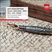 Bach Transcriptions by Busoni, Saint-Saens, Siloti, Hess, Liszt, Lustner / Bruno Leonardo Gelber and Elexis Weissenberg, pianos