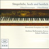 Sangerliebe, hoch und herrlich - songs by Brahms, Burgmuller, Schumann, Herzogenberg et al. / Andreas Reibenspies, baritone; Eckart Selheim, piano