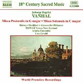 The 18th Century Sacred Music -Vanhal: Missa Pastoralis, etc