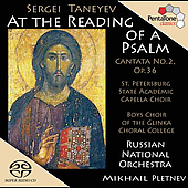 Taneyev: At the Reading of a Psalm / Pletnev, et al