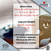 Brahms: Sonata for Violin and Piano no 1, etc;  Vieuxtemps