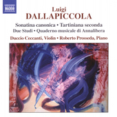 Dallapiccola: Complete Works for Violin and Piano / Prosseda