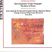 Bacri: Cello Concerto, Folia, Requiem, etc / Yves Prin