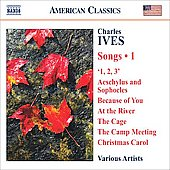 American Classics - Ives: Songs Vol 1/ Berman, Cabot, Carfizzi, Cavalieri, Gardner, Pittsinger, Plenk, Tarver, Wool, et al