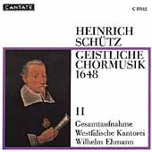 Sch&#252;tz: Geistliche Chormusik II / Wilhelm Ehmann