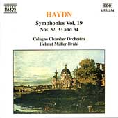 Haydn: Symphonies Vol 19 - no 32, 33 and 34 / Müller-Brühl