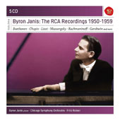 Byron Janis: The RCA Recordings 1950-1959 - Concertos by Schumann & Rachmaninov; Sonatas by Beethoven & Chopin; Solo piano pieces by Mussorgsky Liszt, J. Strauss, Gershwin et al. / Byron Jannis, piano; Chicago SO [5 CDs]