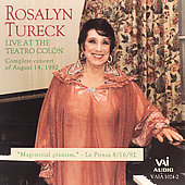 Rosalyn Turek - Live at the Teatro Colon