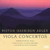 Piston, Harbison, Adler: Viola Concertos / Kelly, et al