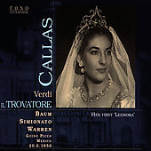 Verdi: Il trovatore / Pico, Callas, Baum, Simionato, et al