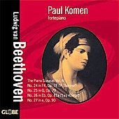 Beethoven: Piano Sonatas no 24-27 / Paul Komen