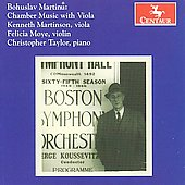 Martinu: Chamber Music with Viola / Martinson, Moye, Taylor