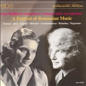 Lory Wallfisch Remembers: A Festival of Romanian Music