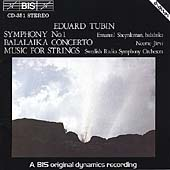 Tubin: Symphony no 1, etc / J&#228;rvi, Swedish Radio SO