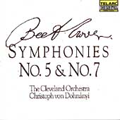 Classics - Beethoven: Symphonies no 5 & 7 / Dohn&#225;nyi, et al