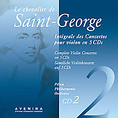 Le Chevalier de Saint-Georges: Violin Concertos Vol 2